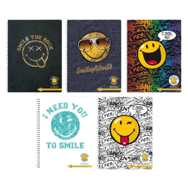 Spirálový blok Smiley World A4 70 listů