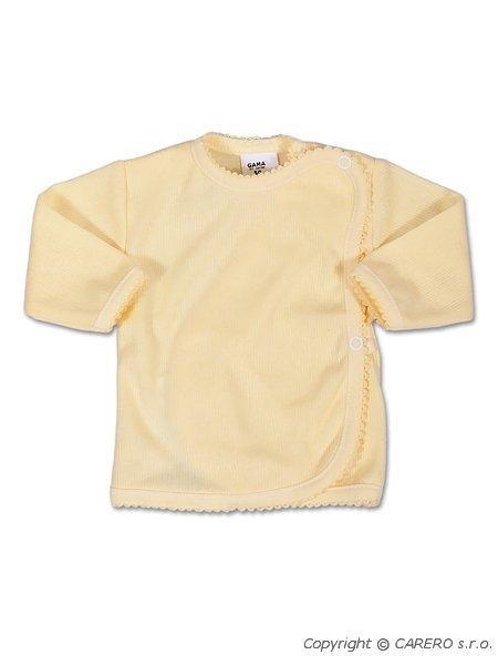 Kojenecká košilka zavinovací vel. 50 PROUŽKY BÉŽOVÁ