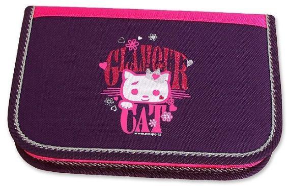 Školní pouzdro 2-klopy Glamour Cat prázdné Emipo