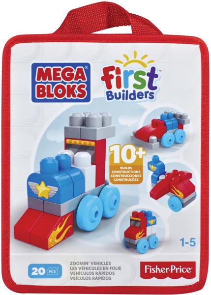 Mega Bloks Mega Bloks First Builders autíčka 20ks