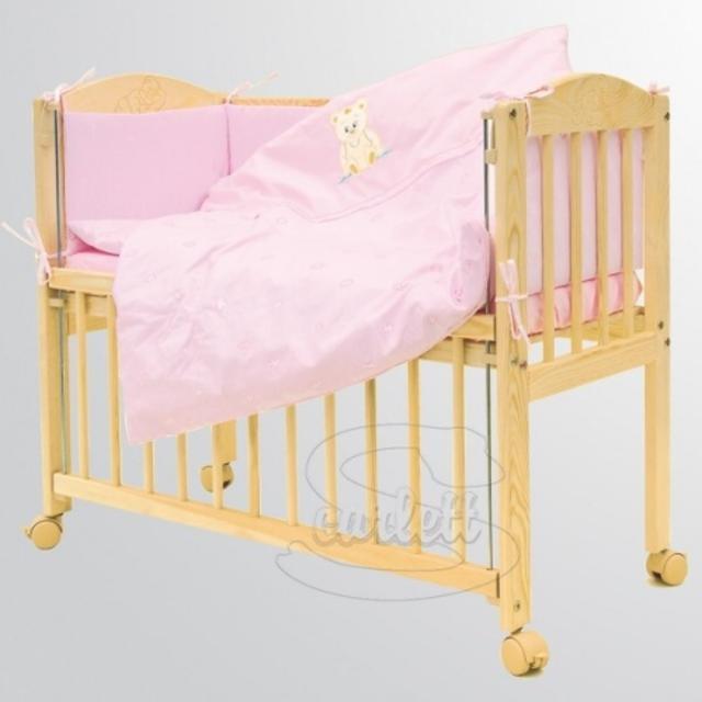 Scarlett Souprava 7 dílná do postýlky Baby Méďa růžový