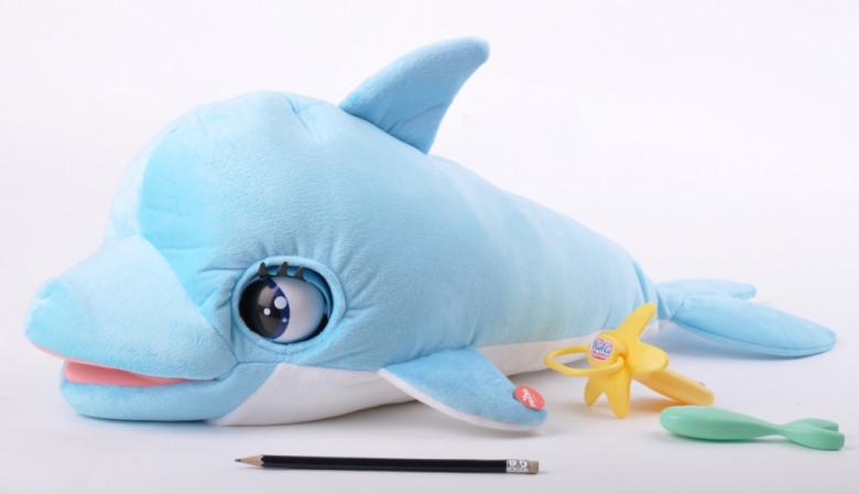Delfín Blu Blu 60cm plyšový na baterie se zvukem