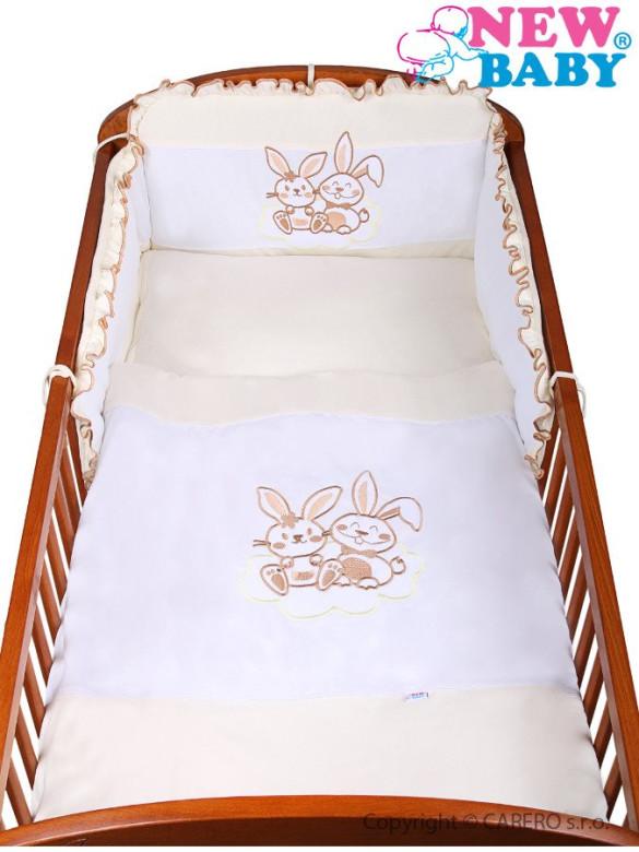2-dílné ložní povlečení New Baby Bunnies 90/120 béžové