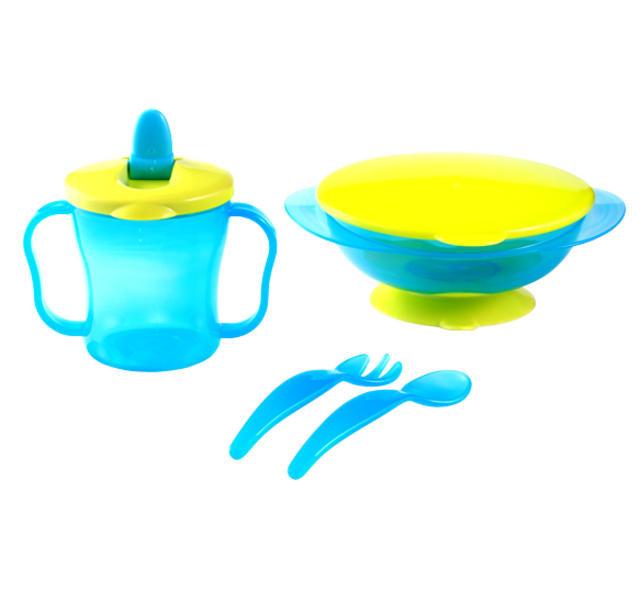 Plastová sada nádobí BabyOno modrá, 6 m+