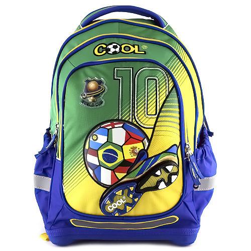 Školní batoh Goal - Zeleno-modrý