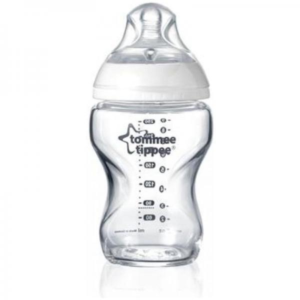 Kojenecká láhev C2N 250ml skleněná, 0m+ Tommee Tippee