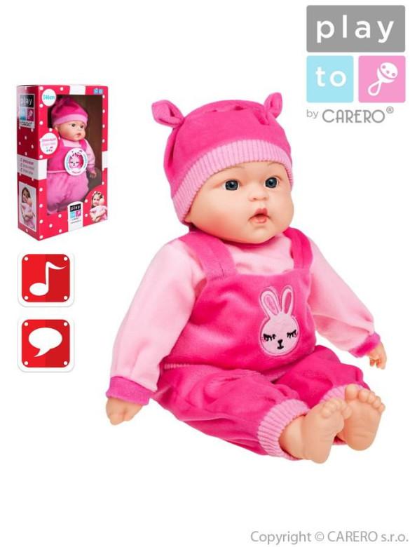 Mluvící a zpívající dětská panenka PlayTo Terezka 46 cm