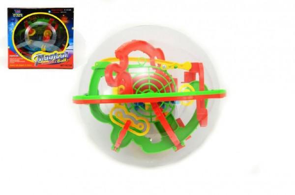Hlavolam Bludiště koule 3D plast 20cm Perplexus