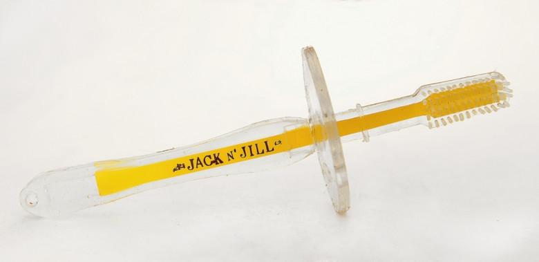 Jack N´ Jill silikonový zubní kartáček se štítem