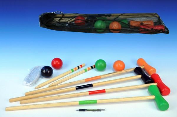 Kroket pro 4 hráče v síťce 75x12x16cm