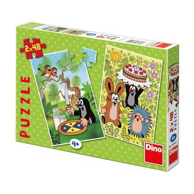 Puzzle Krtek Krtečkovy dobroty 2 x 48ks v krabici