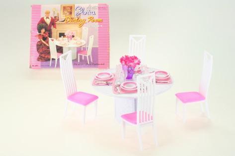 Glorie Jídelna - 4 židle pro panenky