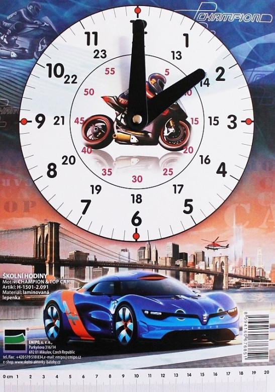 Školní hodiny Champion - Top Car