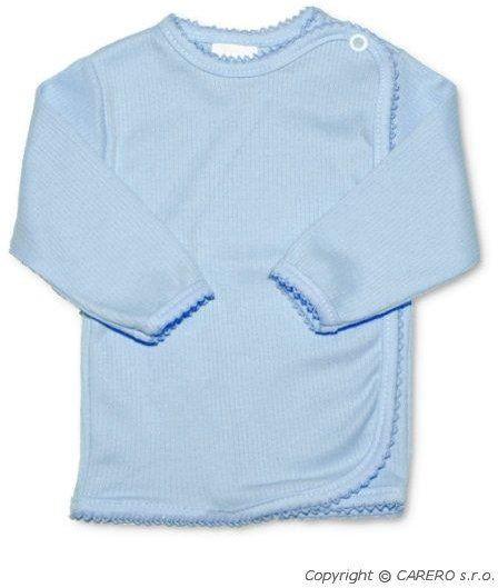 Kojenecká košilka zavinovací vel. 62 PROUŽKY MODRÁ