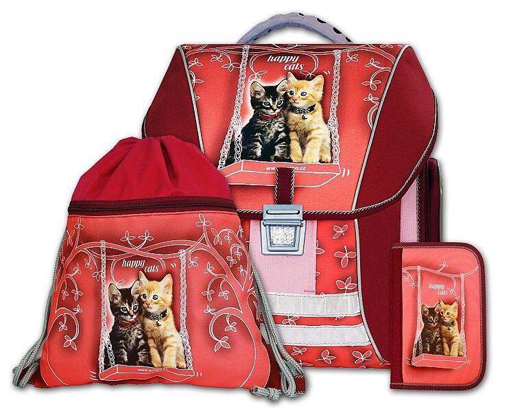 Batohový set 3-dílný Happy cats Emipo