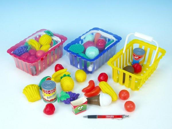 Nákupní košík ovoce/zelenina plast 20cm