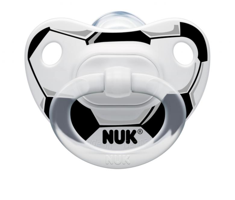 Silikonové šidítko NUK Classic fotbal (6-18m)