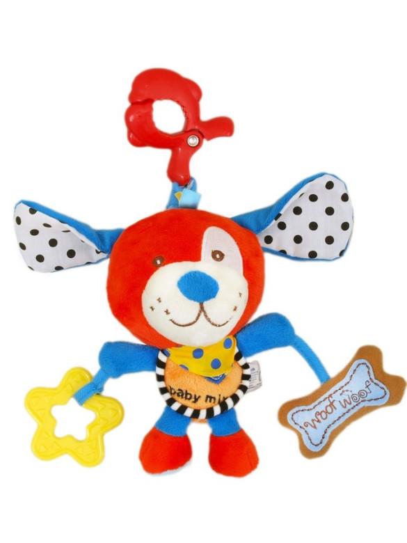 Plyšová hračka s hracím strojkem Baby Mix - Red Dog