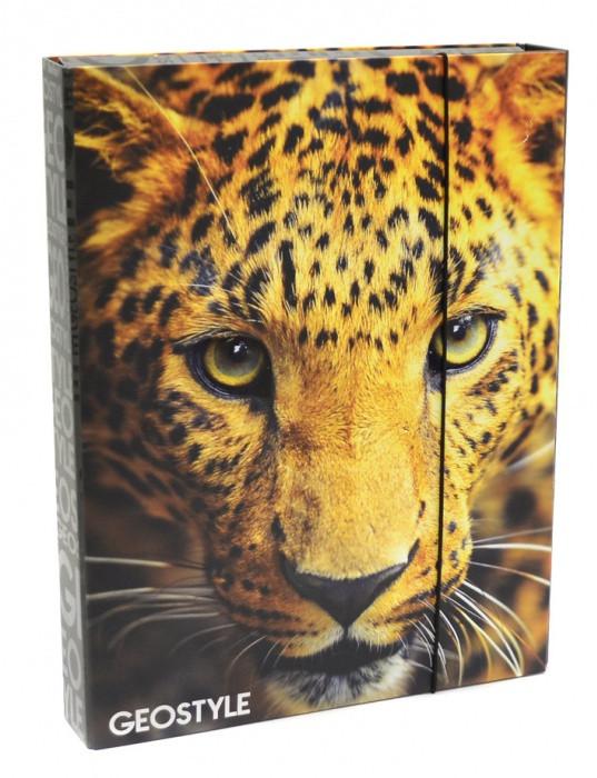 Heft box A4 Jumbo style - LEOPARD