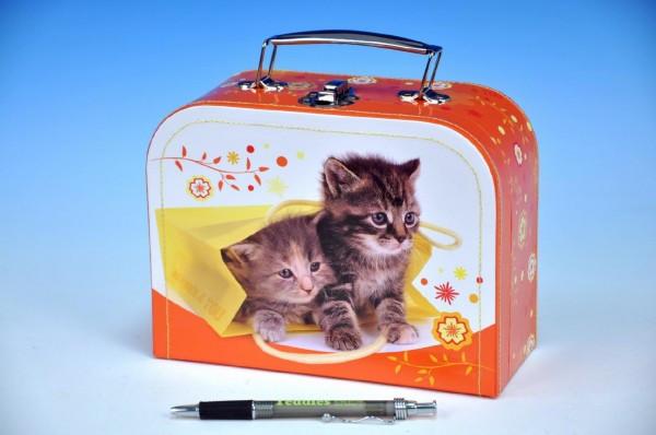 Kufřík Koťata šitý 20x15x8,5cm