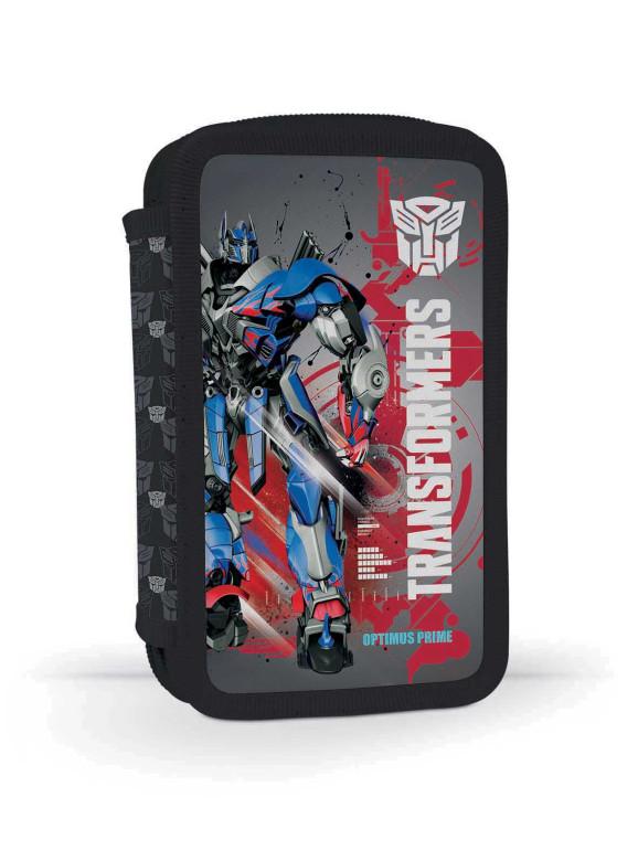Karton P+P Dvoupatrový penál plný Transformers MODRO-ČERVENÝ