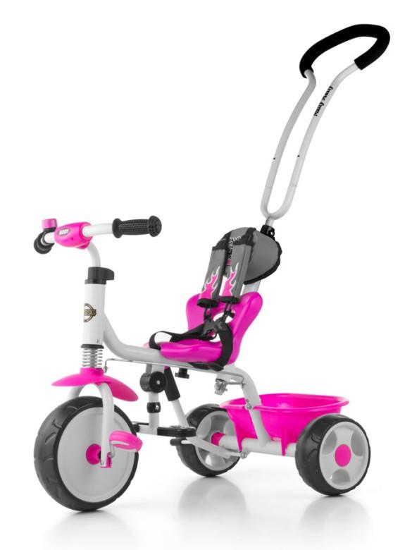 Dětská tříkolka se zvonkem Milly Mally Boby 2015 pink nezobra