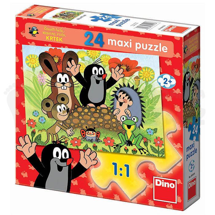 Puzzle Maxi Krtek na krtině 66x47cm v krabici 24dílků