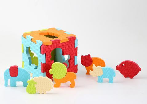 Puzzle pěnové 46,5x31,5 cm zvířátka Ludi