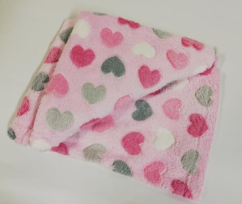 NNovinka Dětská deka Wellsoft 76 x 92 cm Srdíčka růžová Pidilidi f4263ecfaa