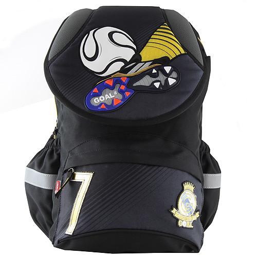 Školní batoh Goal - 3D kopačka a míč - černo-šedý nezobra