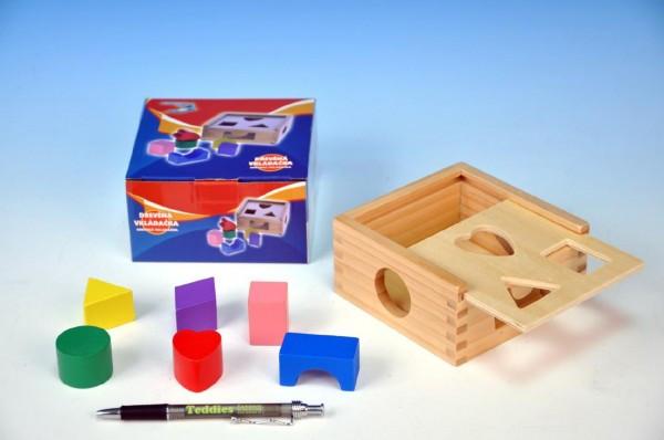 Vkládačka dřevěná 12x12x6cm různé tvary