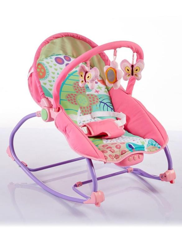 Dětské lehátko 2v1 Baby Mix pink nezobra