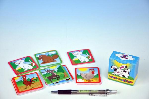 Pexeso se zvířátky společenská hra 80 kartiček v krabičce