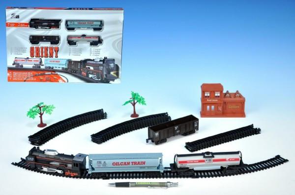 Orient vlak se třemi vagóny