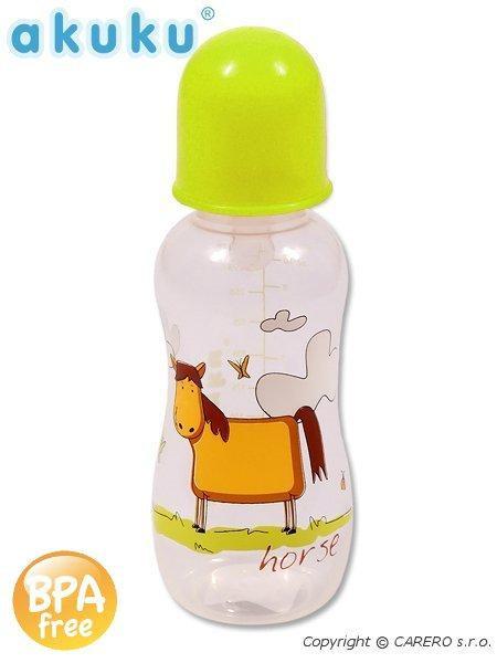 Láhev plastová s obrázky Akuku 300 ml bez BPA ZELENÁ