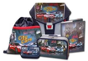 Školní aktovkový set ERGO ONE City Cars 5-dílný Emipo  d83f5f9239