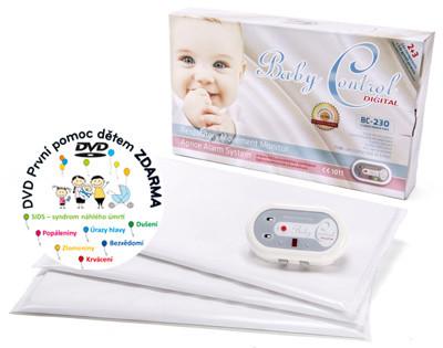 Baby Control Monitor dechu Digital BC-230 s třemi senzorovými podložkami