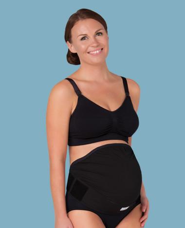 Těhotenský podpůrný pás přes bříško - nastavitelný - černý