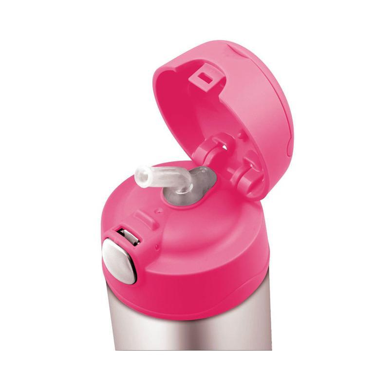 Dětská termoska s brčkem 470ml - růžová  d500785eb6d