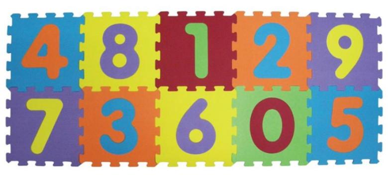 Ludi Puzzle pěnové 143x48 cm čísla