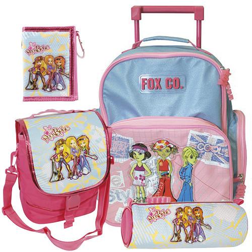 Školní batoh Cool trolley set - 4-dílná sada - modro-růžový + doplňky Winx  I. 4e7222a155