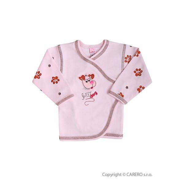 Kojenecká košilka Koala Rexík RŮŽOVÁ vel. 56
