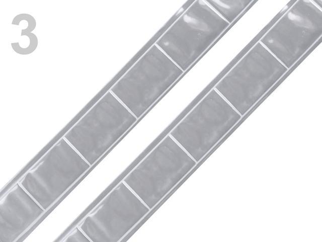 Reflexní páska na přilepení 1m stříbrná